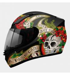 Casco integral MT Helmets Revenge Skull & Roses Color