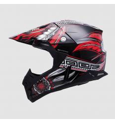 Casco cross MT Helmets Synchrony Native Rojo