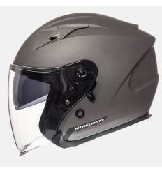 Casco jet MT Helmets Avenue Solid Titanio mate